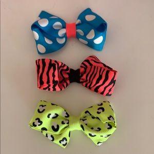 Set of 3 Bright Hair Bows